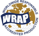 Worldwide Responsible Accredited Production (WRAP) certified production